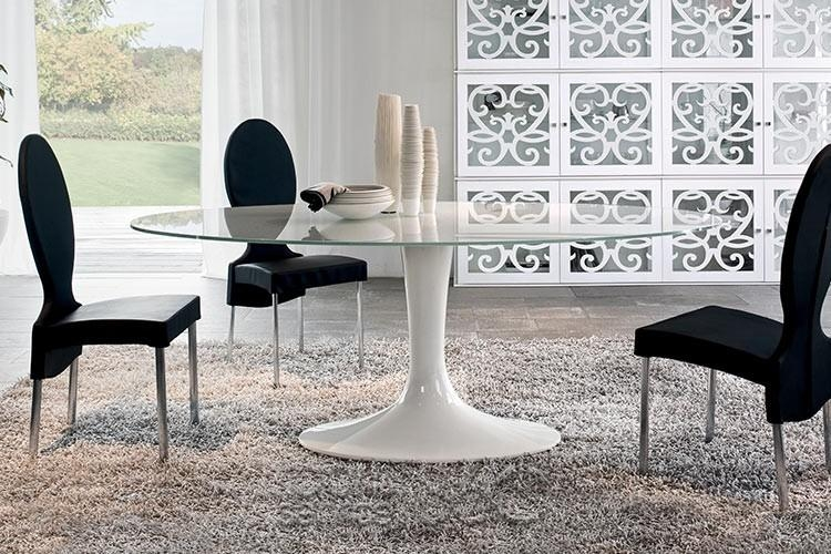 Imperial Oval Glass Dining Tabletonin Casa Within Imperial Dining Tables (Image 15 of 20)