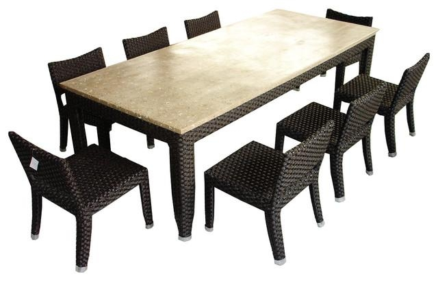 Impressive 8 Seat Outdoor Dining Set Creative Of Outdoor Dining With 8 Seat Outdoor Dining Tables (Image 12 of 20)