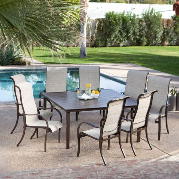 Impressive 8 Seat Outdoor Dining Set Creative Of Outdoor Dining Within 8 Seat Outdoor Dining Tables (Image 13 of 20)