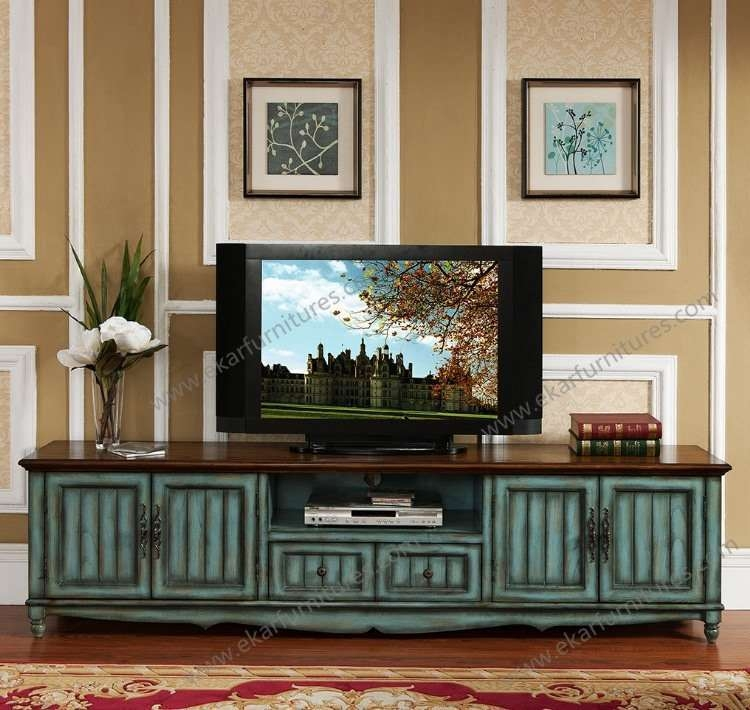 Impressive Best Antique Style TV Stands With Regard To Chinese Style Home Decorative Tv Cabinet With Showcase (Image 25 of 50)