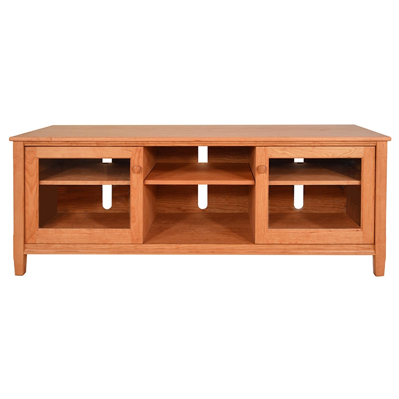 Impressive Best Cherry Wood TV Stands Inside Large Shaker Style Solid Wood Tv Stands Media Consoles Us Made (Image 26 of 50)