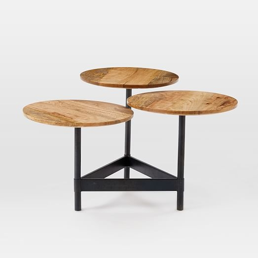 Impressive Best Circle Coffee Tables Regarding Tiered Circles Coffee Table Raw Mango West Elm (Image 23 of 50)