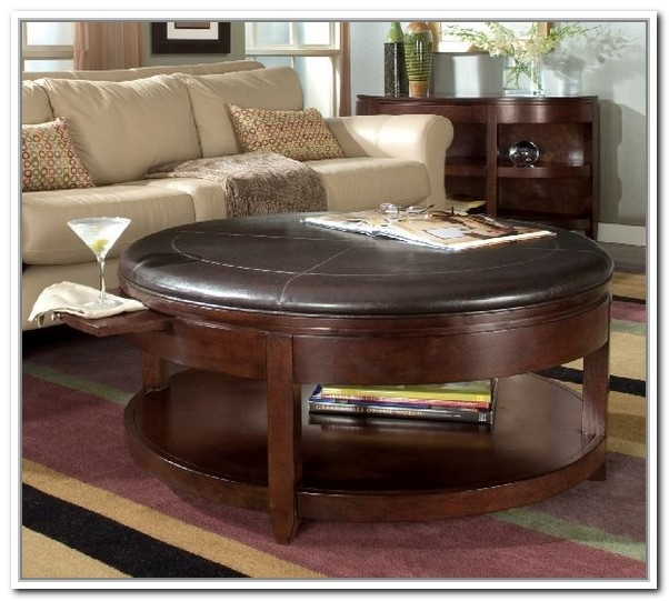 Impressive Best Circular Coffee Tables With Storage Within Magnificent Round Coffee Table With Storage Round Coffee Table (Image 24 of 50)