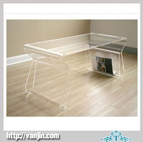 Impressive Best Coffee Tables With Magazine Rack With Regard To Transparent Acrylic Coffee Table With Magazine Rack Holder (View 32 of 50)