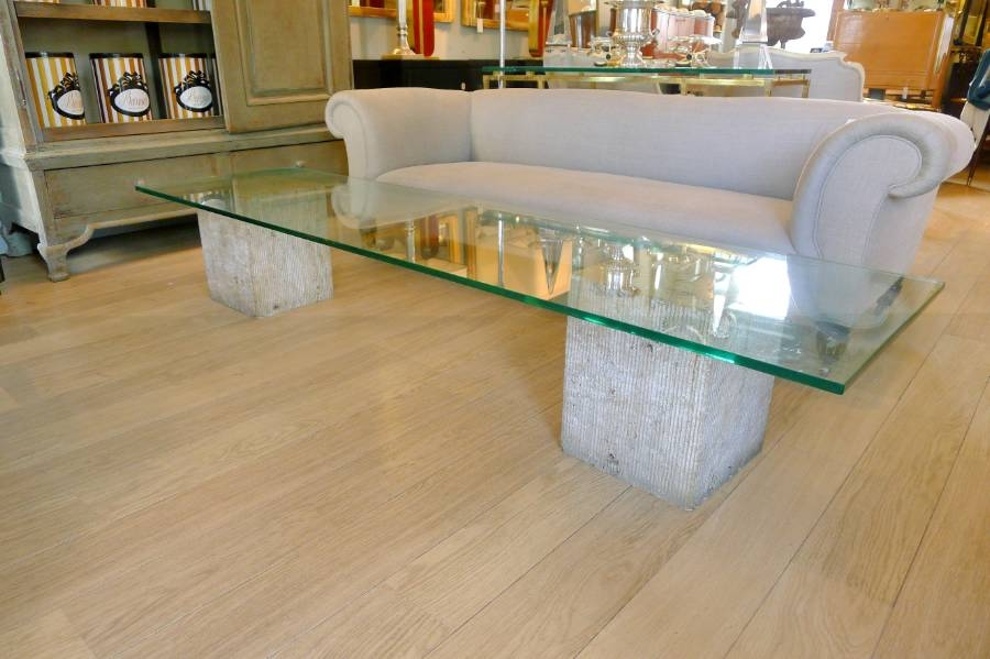 Impressive Best Large Glass Coffee Tables For Travertine Marble And Glass Coffee Table Luigi Moretti C (Image 26 of 50)