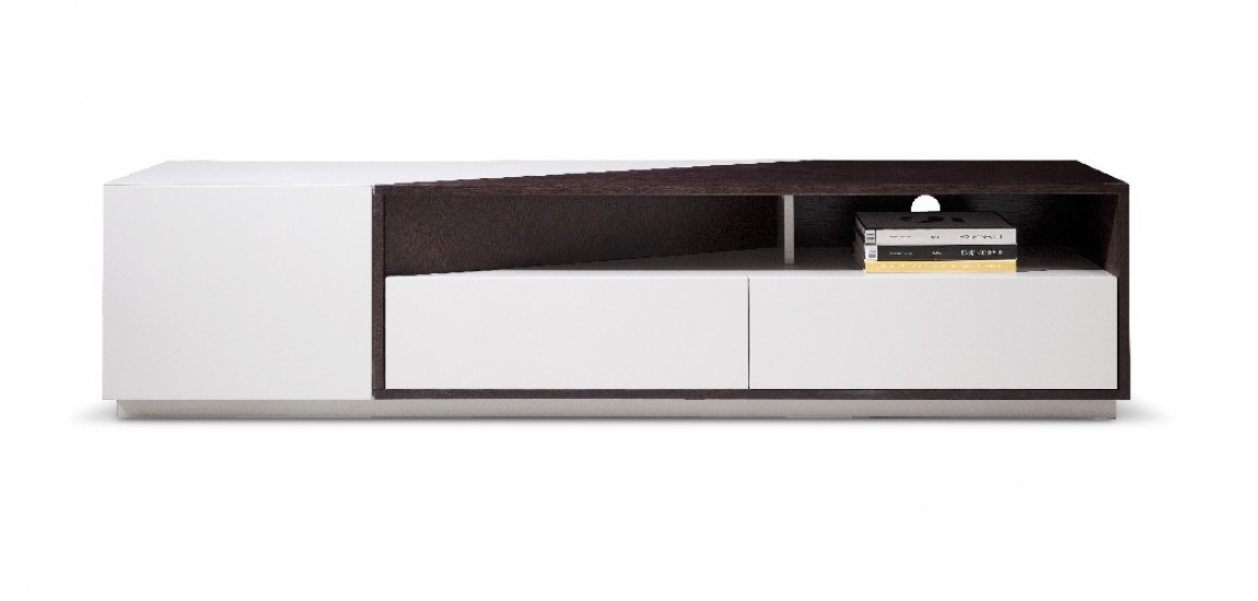 Impressive Best Long TV Stands Furniture With Regard To 117 Tv Stand In Light Grey And Brown Oak Finish (Image 27 of 50)