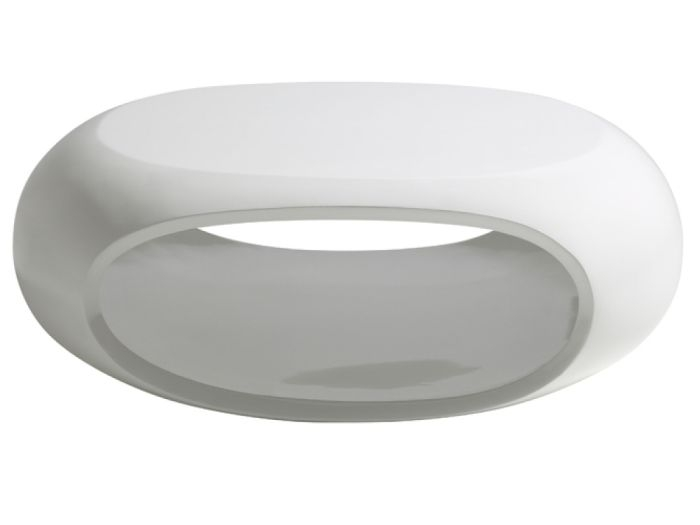Impressive Best Oval Gloss Coffee Tables Inside Eclipse White Gloss Curved Open Storage Coffee Table (View 31 of 40)