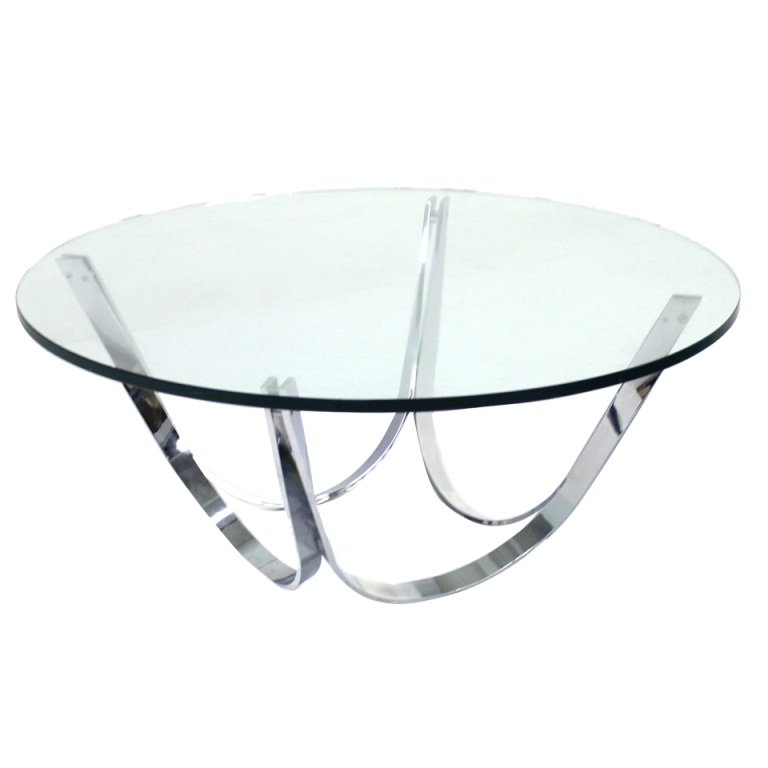 25 Inch Round Glass Coffee Table: Top 50 Round Chrome Coffee Tables