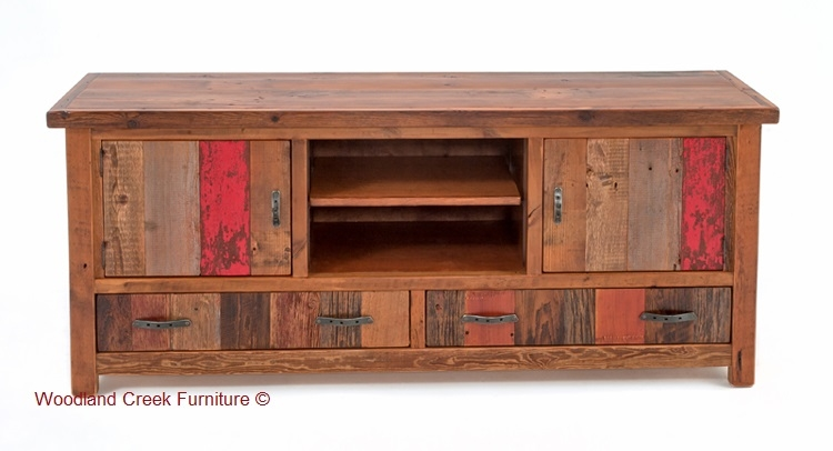 Impressive Best Rustic Wood TV Cabinets For Barn Wood Tv Cabinet Vintage Rustic Entertainment Center (View 44 of 50)