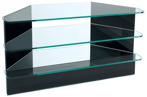 Impressive Best Triangular TV Stands Inside Greenapple Furniture Plasma Large Corner Tv Stand 12mm Clear (Image 25 of 50)