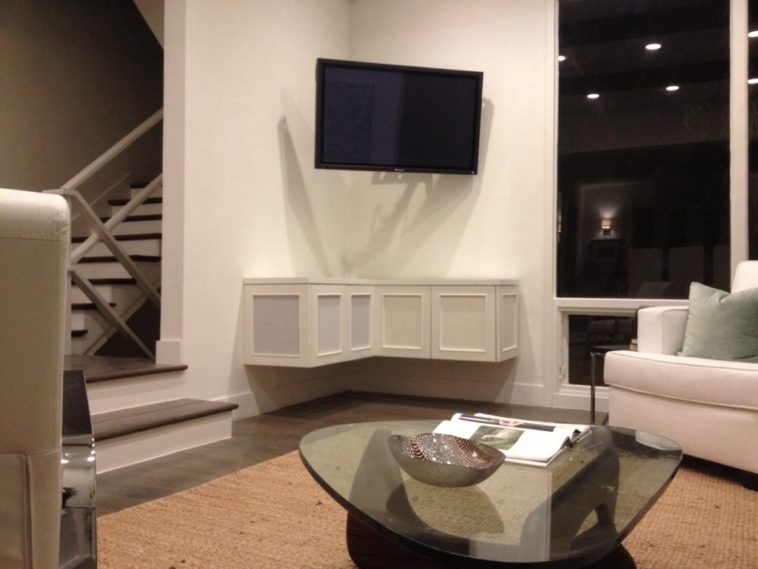 Impressive Best TV Cabinets With Storage Throughout Furniture L Shaped Floating Tv Cabinets With Storage Under Black (View 19 of 50)