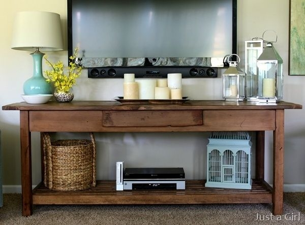 Impressive Best TV Stands And Computer Desk Combo Inside Best 20 Tv Stand Decor Ideas On Pinterest Tv Decor Tv Wall (View 40 of 50)