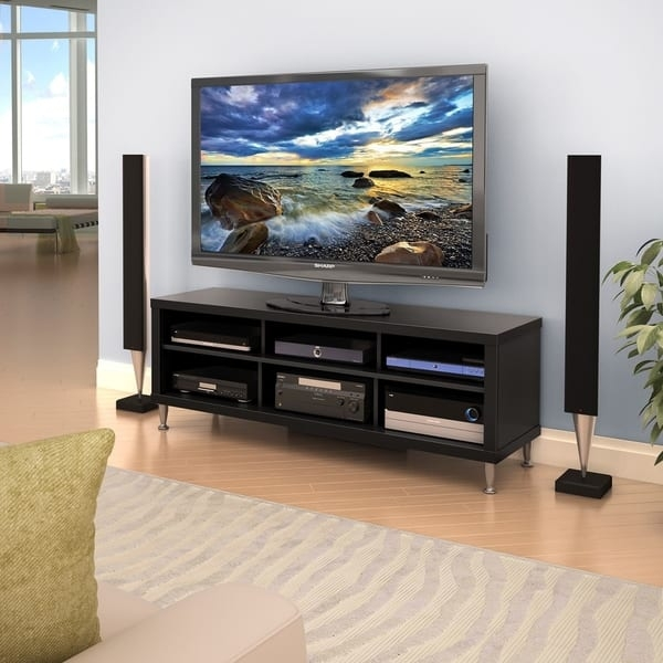 Impressive Best TV Stands For 55 Inch TV Intended For Valhalla Broadway Black 55 Inch Tv Stand Free Shipping Today (Image 26 of 50)