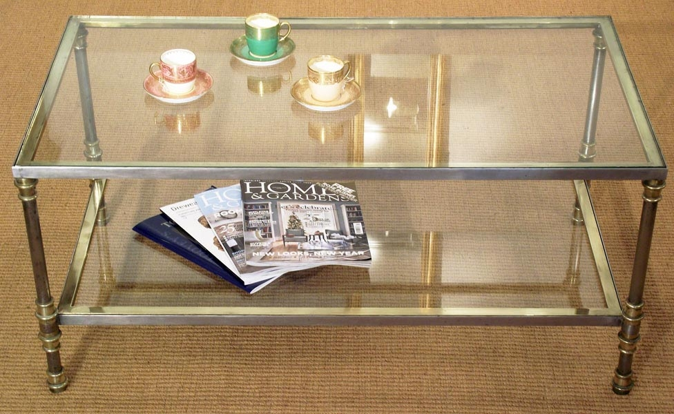 Impressive Brand New Antique Brass Glass Coffee Tables For Antique Coffee Table Antique Glass Coffee Table Carved 1930 39 S (Image 23 of 50)