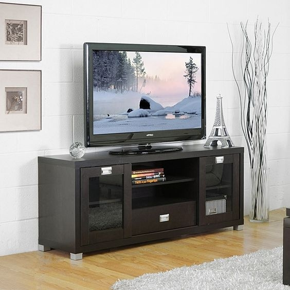 Impressive Brand New Black TV Stands With Glass Doors With Tv Stands Glamorous Rolling Tv Stands For Flat Screens  (Image 21 of 50)