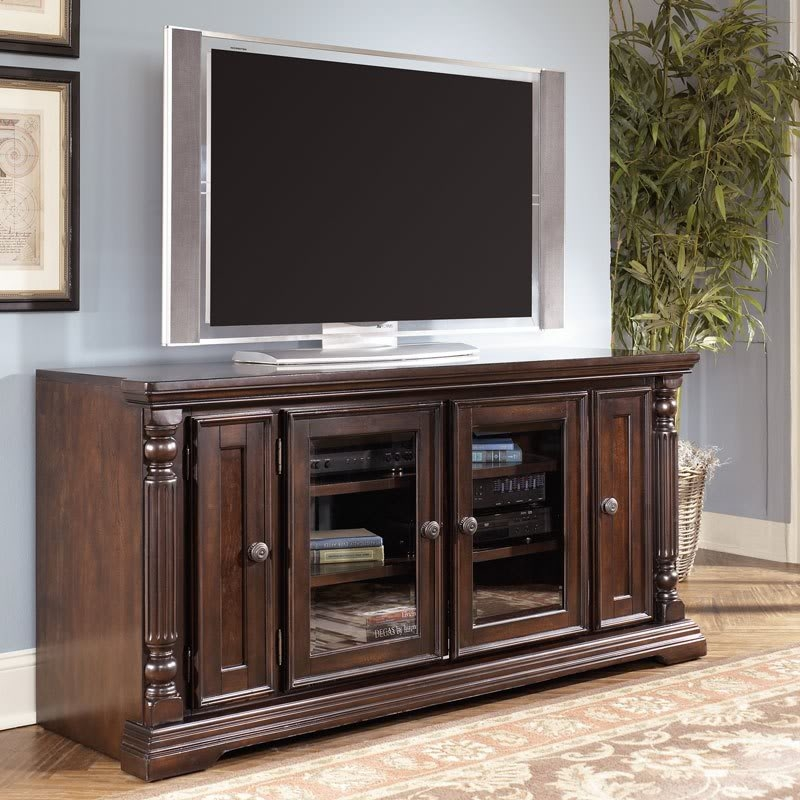 Impressive Brand New Brown TV Stands For Barbados 64 Traditional Dark Brown Living Room Tv Stand Console (View 3 of 45)