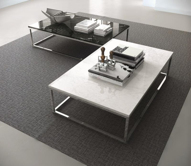 Impressive Brand New Coffee Tables With Chrome Legs Pertaining To Temahome Prairie Coffee Table In White Marble Chrome Or Black Legs (Image 27 of 50)