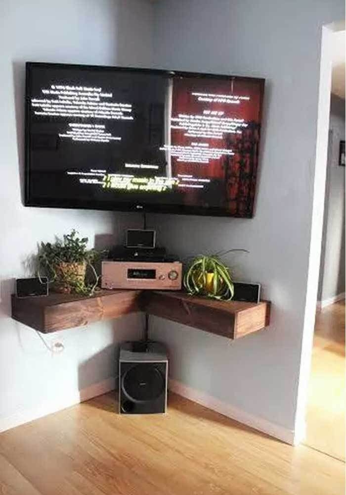 Impressive Brand New Corner TV Stands For 46 Inch Flat Screen Within Best 25 Corner Tv Wall Mount Ideas On Pinterest Corner Tv (View 42 of 50)