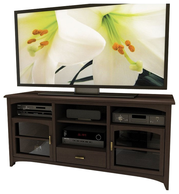Impressive Brand New Expresso TV Stands With Sonax West Lake 60 Tv Component Stand In Dark Espresso (View 48 of 50)