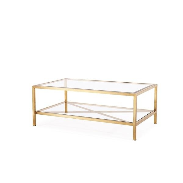 Impressive Brand New Glass Gold Coffee Tables Within Coffee Table Gold (View 28 of 50)