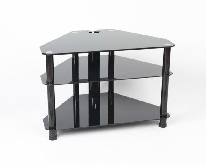 Impressive Brand New Iconic TV Stands In Best 25 Black Glass Tv Stand Ideas On Pinterest Penthouse Tv (Image 27 of 50)
