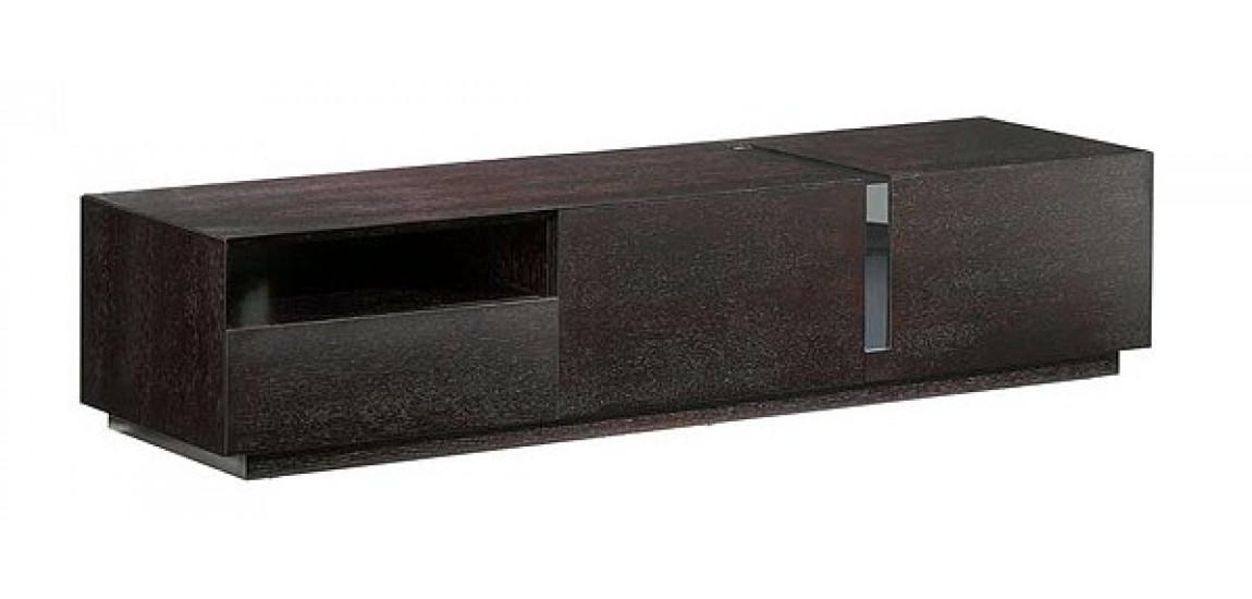 Impressive Brand New Long Black TV Stands Pertaining To Tv047 Large Modern Tv Stand In Black And Walnut Finish (View 9 of 50)
