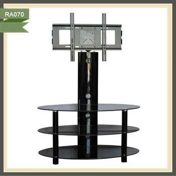 Impressive Brand New Oval Glass TV Stands With Oval Glass Tv Standtv Motorized Swivel Standstand Lcd Tv Buy (View 21 of 50)