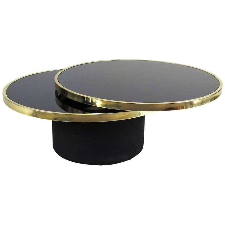 Impressive Brand New Round Swivel Coffee Tables Pertaining To Best 25 Black Glass Coffee Table Ideas That You Will Like On (View 30 of 50)