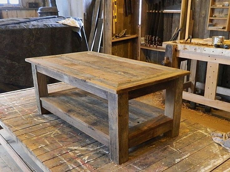 Impressive Brand New Rustic Barnwood Coffee Tables Pertaining To Best 25 Barn Wood Tables Ideas On Pinterest Wood Tables (View 4 of 50)