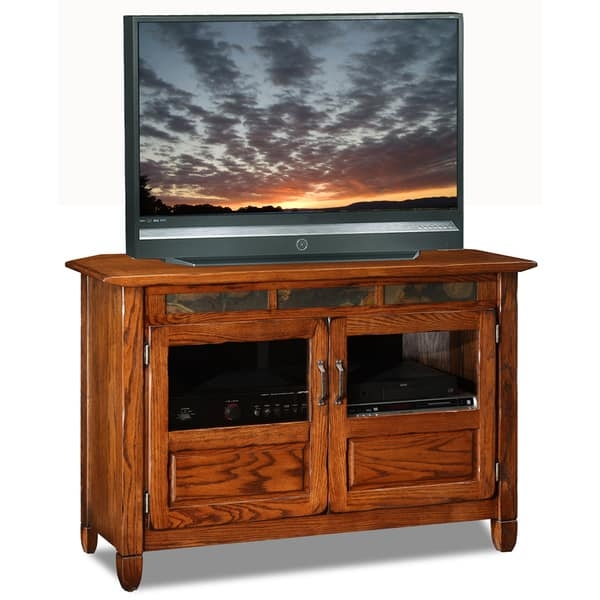 Impressive Brand New Rustic Oak TV Stands For Rustic Oakslate 46 Inch Tv Stand Media Console Free Shipping (View 38 of 50)