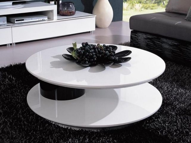 Impressive Brand New White Circle Coffee Tables For White Round Coffee Table (Image 21 of 50)