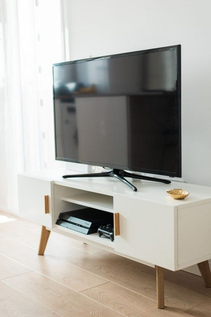 Impressive Brand New White Gloss Oval TV Stands In Ovid Tv Stand (View 48 of 50)
