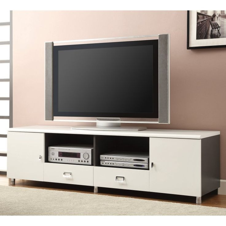 Impressive Brand New White TV Stands For Flat Screens With Best 25 White Tv Stands Ideas On Pinterest Tv Stand Furniture (Image 29 of 50)