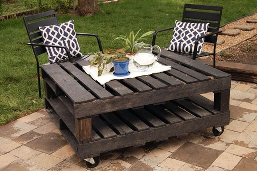 Impressive Brand New Wooden Garden Coffee Tables With Regard To Good Looking Coffee Table Made Pallets (View 12 of 50)