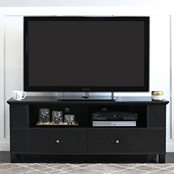Impressive Common Black TV Cabinets Inside Amazon Walker Edison 58 Black Wood Storage Tv Cabinet (Image 22 of 50)