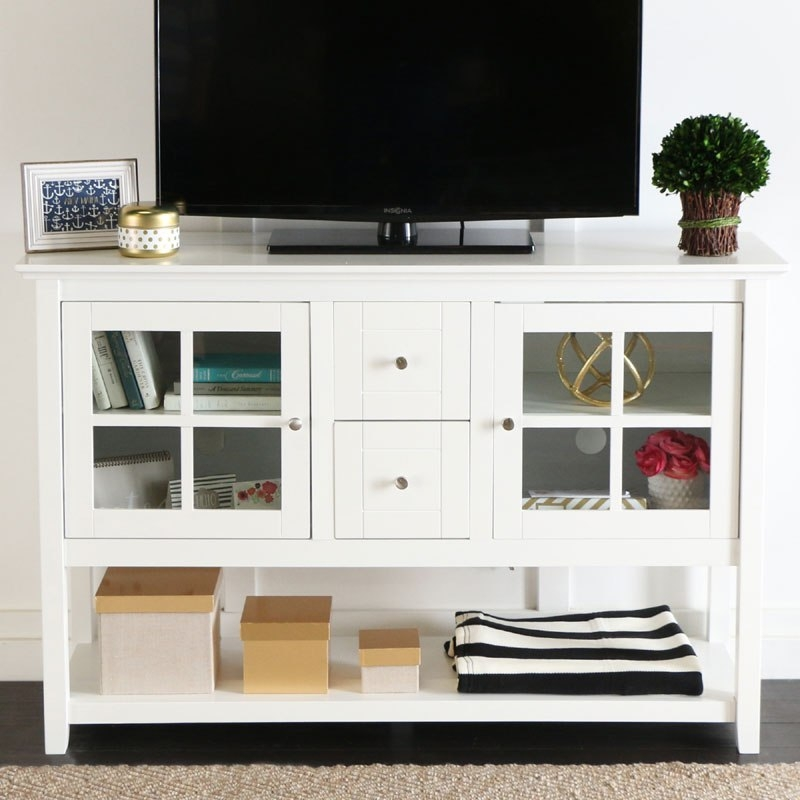 Impressive Common Black TV Stands With Glass Doors With Regard To Tv Stands Astonishing White Highboy Tv Stand 2017 Design Highboy (Image 22 of 50)