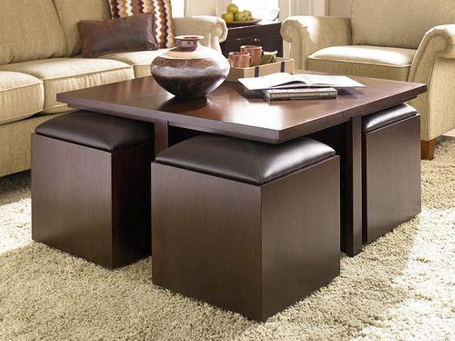 Impressive Common Brown Leather Ottoman Coffee Tables With Storages Pertaining To Attractive Storage Ottoman Coffee Table Coffee Table Storage (Image 16 of 40)