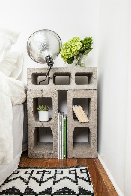 Impressive Common Dwell TV Stands With Regard To 17 Genius Ways To Use Old Cinder Blocks To Transform Your Home And (Image 24 of 50)