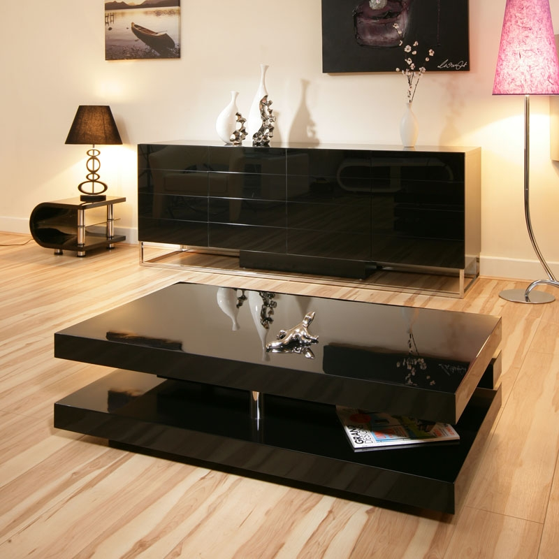 Impressive Common Gloss Coffee Tables Pertaining To Uk Cf Ultimate High Gloss Black Extending Coffee Table Buy (View 23 of 50)