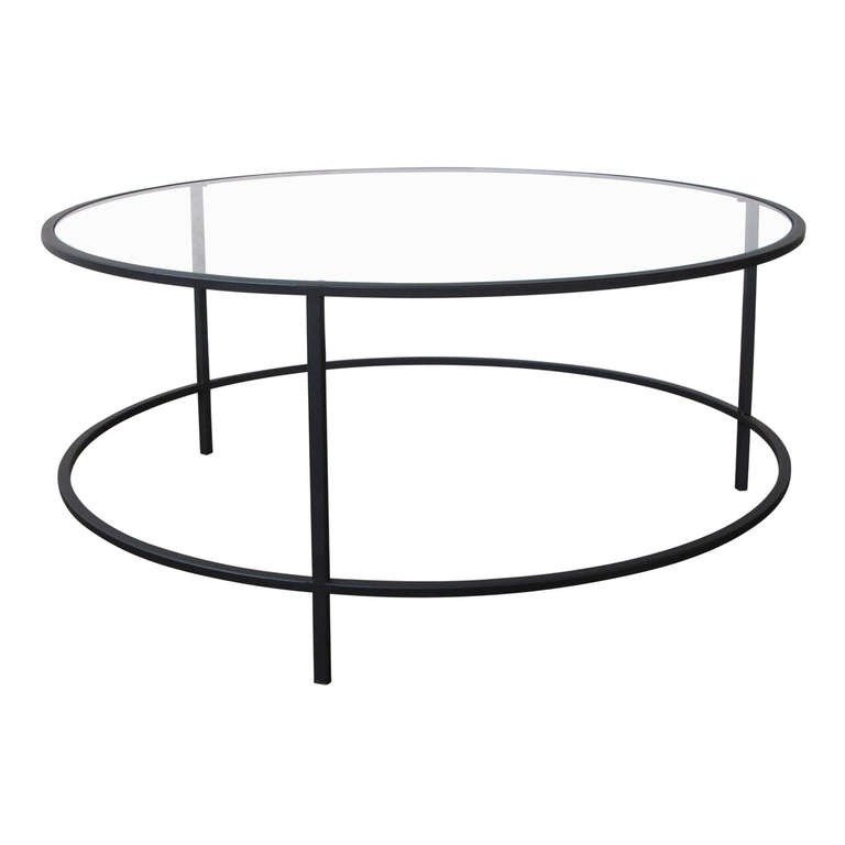 Impressive Common Metal Round Coffee Tables Intended For Coffee Tables Ideas Top Round Glass And Metal Coffee Table Metal (Image 25 of 50)