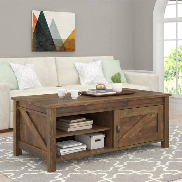 Impressive Common Pine Coffee Tables With Storage Within Ameriwood Home Farmington Century Barn Pine Coffee Table Free (Image 26 of 50)