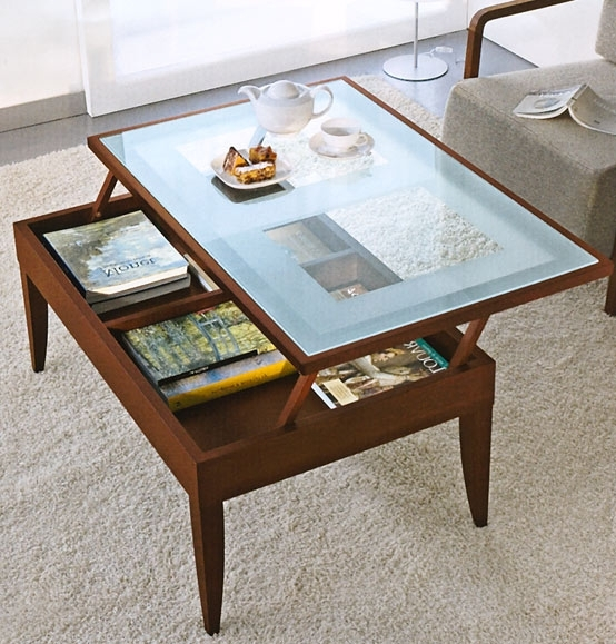 Impressive Common Rising Coffee Tables With The Most Popular Lift Coffee Table As Well As Lift Top Storage (Image 27 of 50)