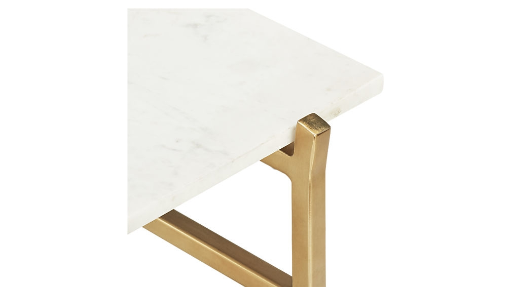 Impressive Common Small Marble Coffee Tables Within Slab Small Marble Coffee Table With Brass Base Cb (View 24 of 50)