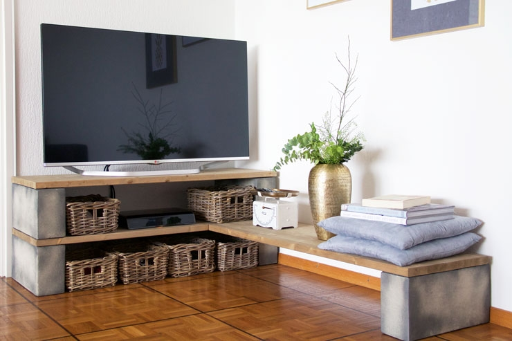 Impressive Common TV Stands With Baskets In Tv Stands Best Contemporary Tv Stand With Baskets Design Ideas (Image 28 of 50)