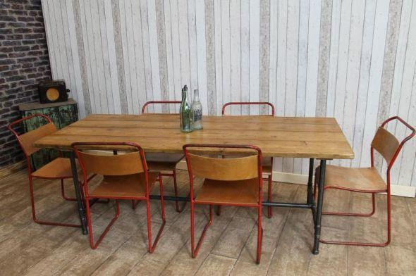 Impressive Decoration Industrial Style Dining Table Bright Idea Within Industrial Style Dining Tables (Image 11 of 20)