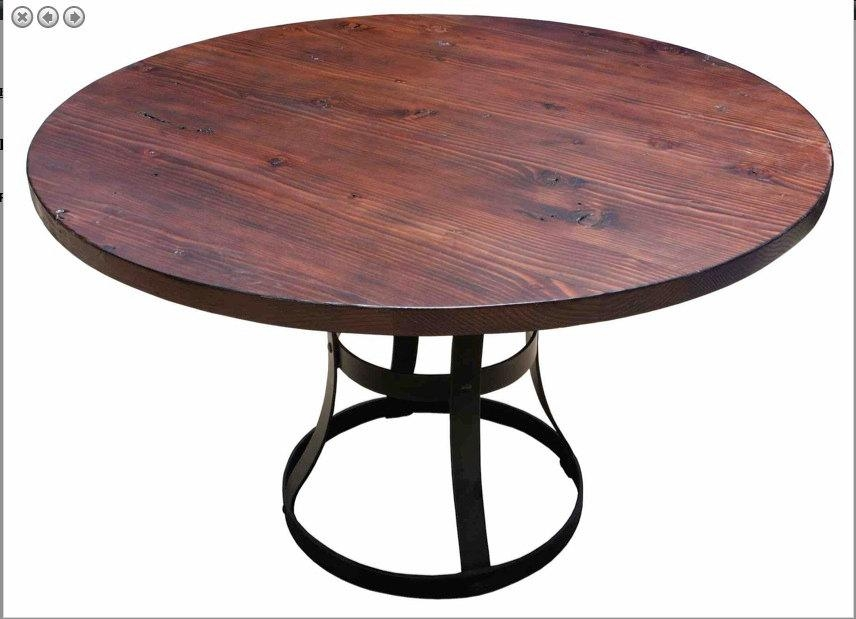 Impressive Decoration Reclaimed Round Dining Table Exclusive With Regard To Cheap Reclaimed Wood Dining Tables (View 11 of 20)