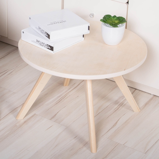 Impressive Deluxe Beech Coffee Tables In Aliexpress Buy Round Wooden Coffee Table Dia60 Cm Beech Wood (Image 22 of 50)