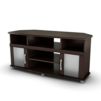 Impressive Deluxe Corner 60 Inch TV Stands Throughout Amazon South Shore City Life Collection Corner Tv Stand (Image 20 of 50)