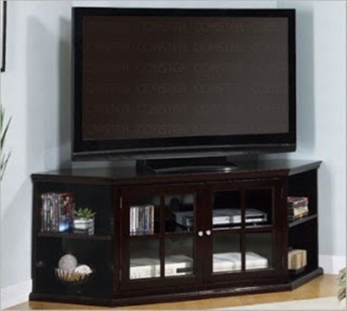 Impressive Deluxe Flat Screen TV Stands Corner Units In Corner Stands For Living Room Enitial Lab Corner 5 Shelf Display (Image 29 of 50)