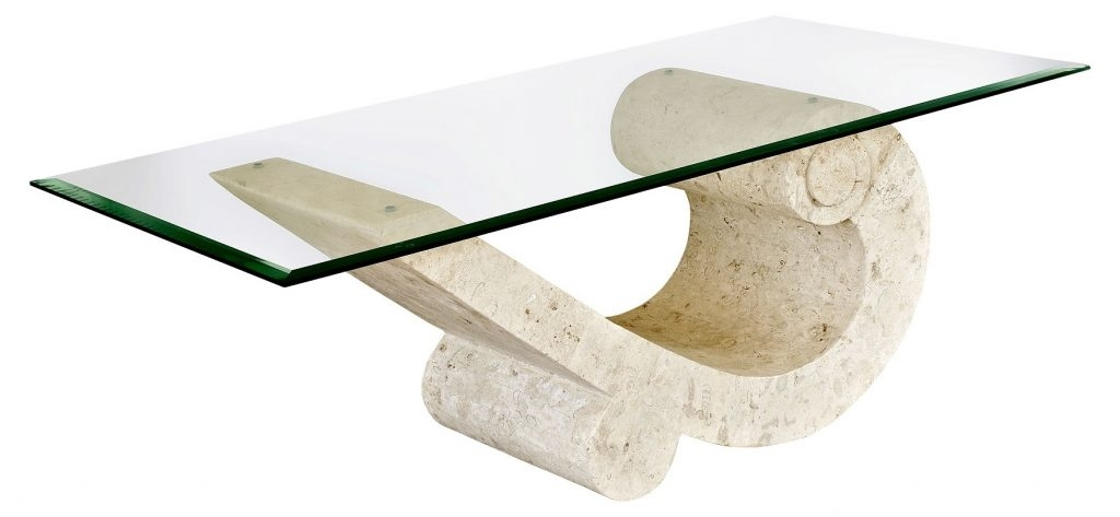 Impressive Deluxe Glass And Stone Coffee Table Regarding Glass And Stone Coffee Table Cocinacentralco (Image 24 of 50)